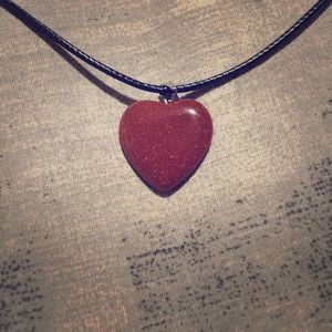 Heartshape Red Goldstone Necklace ♥️